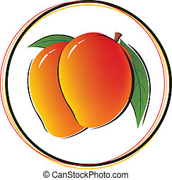 witte , mango, achtergrond