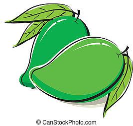 witte , mango, ontwerp, achtergrond