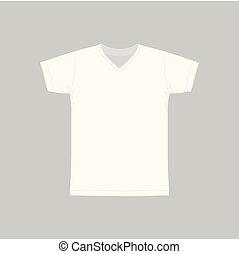 witte , mannen, t-shirt