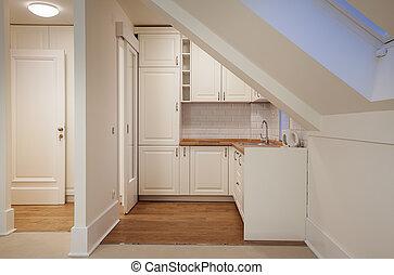 witte , moderne, helder, keuken