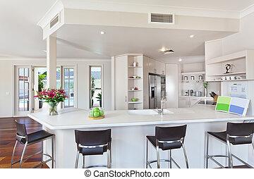 witte , moderne, minimaal, keuken