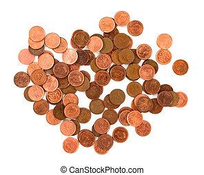 witte , muntjes, geld., achtergrond
