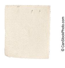 witte , nieuws papier, afgescheurde, boodschap, achtergrond