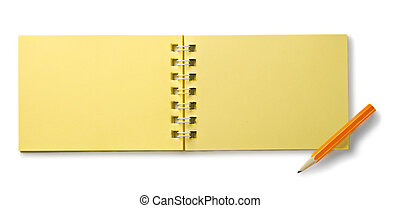 witte , notepad, vrijstaand, achtergrond