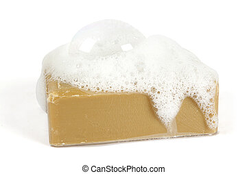 witte , organisch, zeep