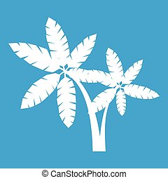 witte , palma, pictogram
