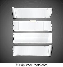 witte , papier kadet, afgescheurde, ontwerp