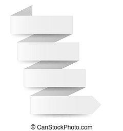 witte , papier, richtingwijzer