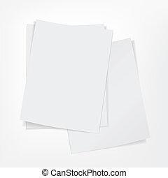 witte , papier, stapel, achtergrond