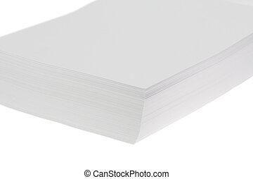 witte , papier, stapel