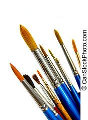 witte , penselen