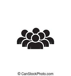 witte , pictogram, vrijstaand, achtergrondmensen