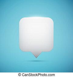 witte , plein, wijzer, op, blauwe achtergrond