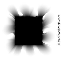 witte , plein, zwarte rook, achtergrond