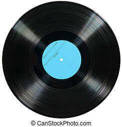 witte , schijf, vrijstaand, achtergrond, vinyl