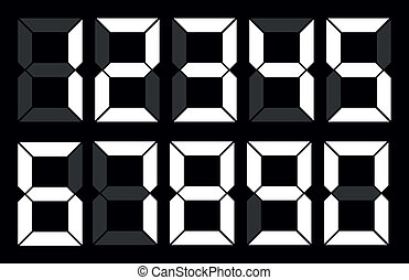 witte , set, getal, digitale