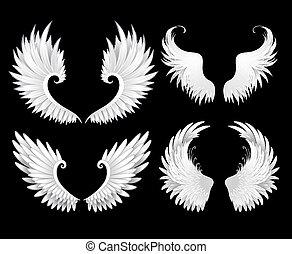 witte , set, vleugels