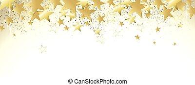 witte , spandoek, goud
