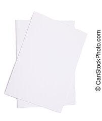witte , stapel, achtergrond, papieren