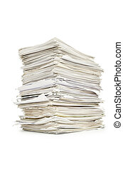 witte , stapel, papieren
