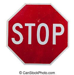 witte , stoppen, rood, meldingsbord