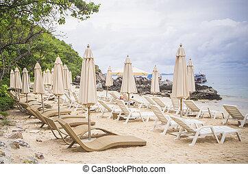 witte , strand., sunbeds