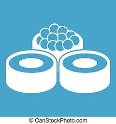 witte , sushi, pictogram