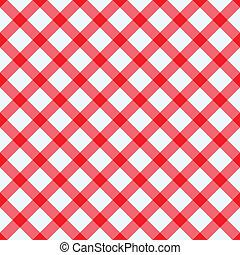 witte , tafelkleed, rood
