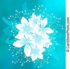witte , vector, bloemen
