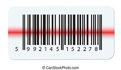 witte , vector, vrijstaand, streepjescode