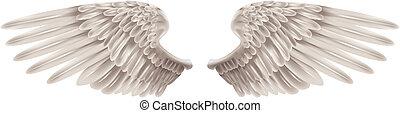 witte , vleugels