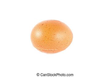 witte , vrijstaand, achtergrond, egg.