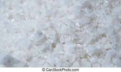 witte , zee zout, voor, spa, omwenteling, in, 4k