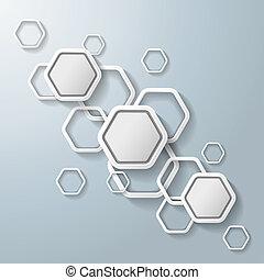 witte , zeshoeken, infographic