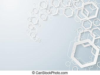 witte , zeshoeken, stof