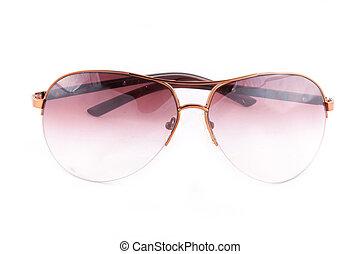 witte , zonnebrillen, vrijstaand, achtergrond