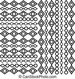 witte , zwarte achtergrond, geometrisch