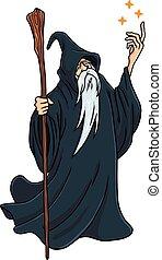 Wizard Cartoon Character Design Mascot Vector Illustration