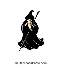 Wizard Cartoon Character Design Vector Illustration