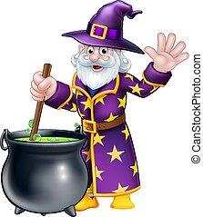 Wizard Cartoon Character