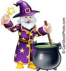 Wizard Cauldron Cartoon