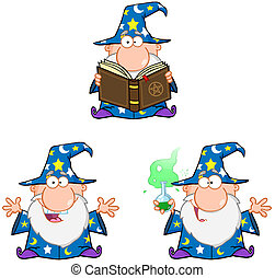 Wizard Characters.Collection 2 - Wizard Cartoon...