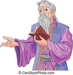 wizard, com, livro