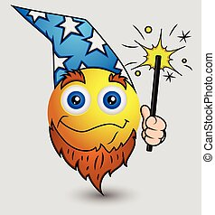Wizard Emoji Smiley Character
