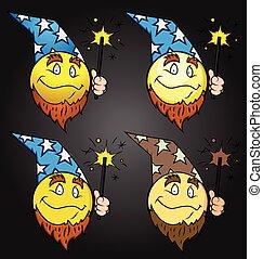 Wizard Emoticon Set
