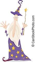 wizard fantasy cartoon illustration