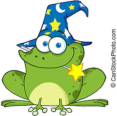 Wizard Frog With A Magic Wand