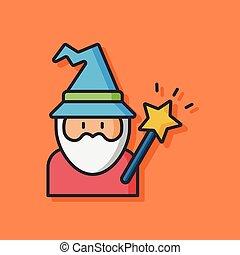 wizard hat vector icon