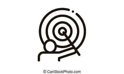 Wizard Human Talent animated black icon on white background