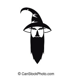 Wizard icon in simple style